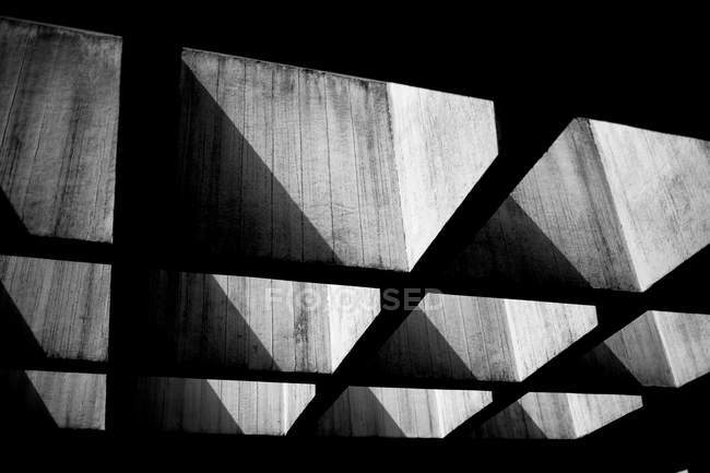 Abstract structure, black and white building shapes — Stock Photo