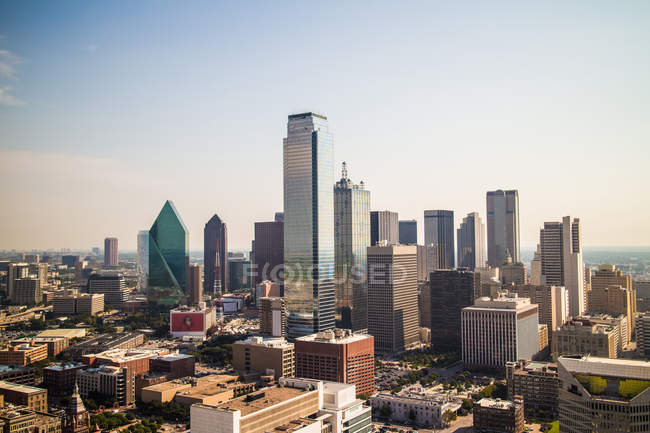 Urbano veduta del paesaggio urbano di Dallas in Texas, Stati Uniti d'America — Foto stock