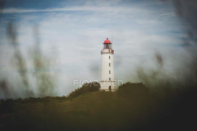 Landschaft-Szene mit Leuchtturm Blick — Stockfoto