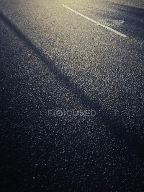 Vue rapprochée d'asphalte — Photo de stock