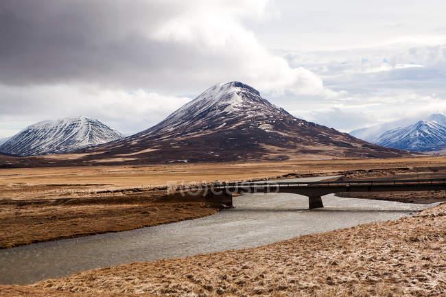 Impressionante paisagem vulcânica — Fotografia de Stock