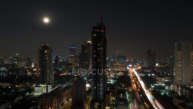 Bangkok cityscape at night — Stock Photo