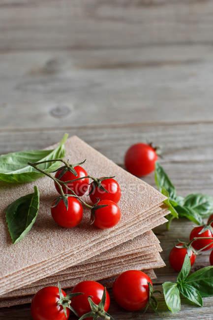 Rohe Lasagne-Blätter — Stockfoto