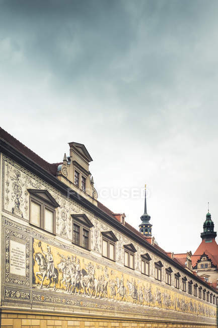 Peinture murale des souverains de Saxe — Photo de stock