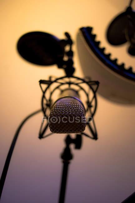 Rundfunk Radio Mikrofon Lautsprecher — Stockfoto