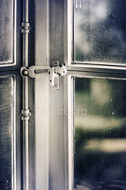 House with closed window, close up image shot — Stock Photo