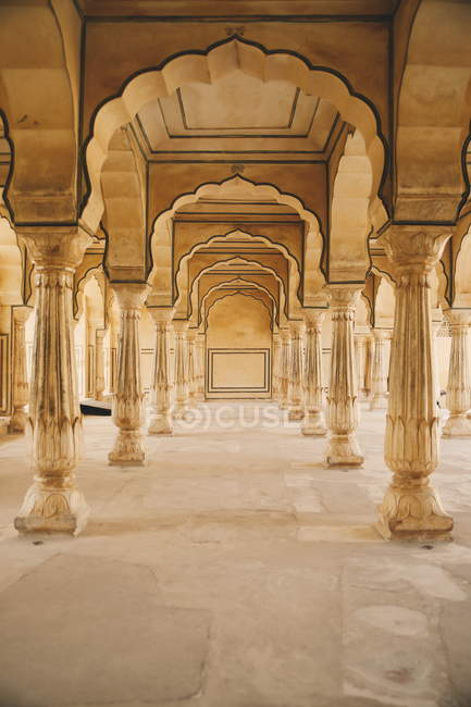 Corridoio di lusso di Jaipur palace — Foto stock