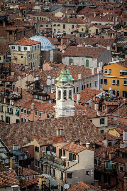 Aerial cityscape of famous Venice old town, Italy — Stock Photo