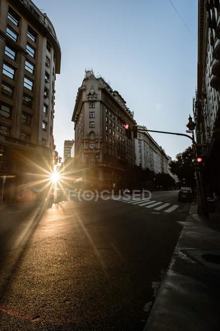 Ruas com edifícios em buenos aires — Fotografia de Stock