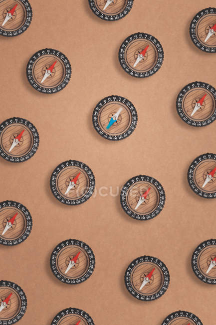 Compasses on brown craft paper — Stock Photo