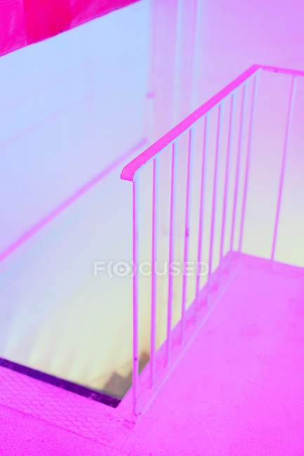 Neon pink staircase partial view — Stock Photo