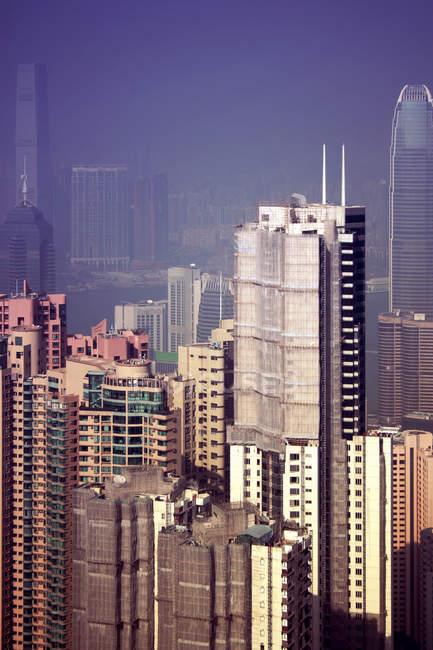 Aerial view of modern Hong Kong metropolis — Stock Photo
