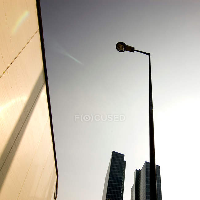 Low angle view of a light post against clear sky. — Stock Photo