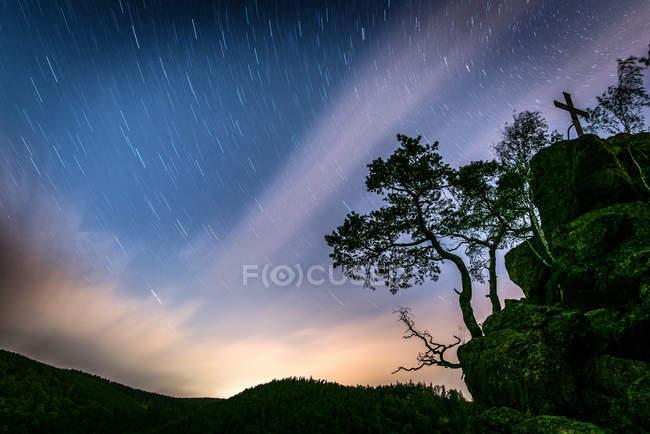 Exposition longue de ciel étoilé — Photo de stock