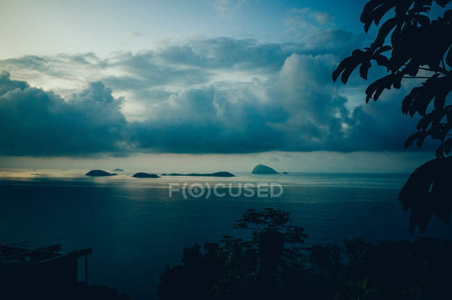 Evening sky, sea and clouds — Stock Photo