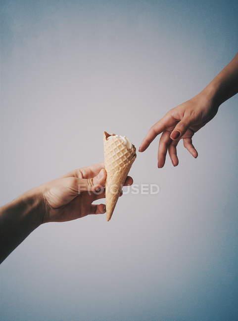 Creation of ice cream Michelangelo — Stock Photo