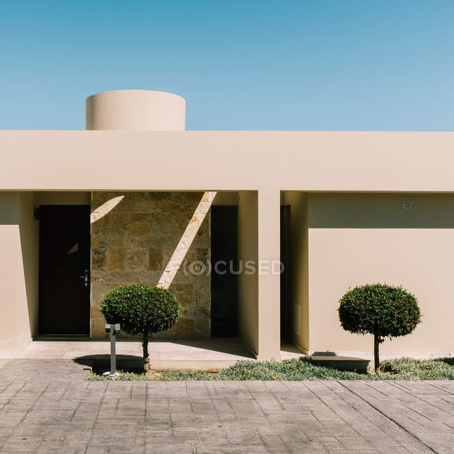 Plant against built structure against clear sky. — Stock Photo