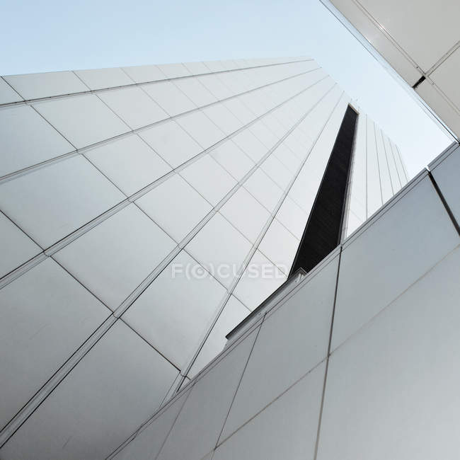 Low angle view on building glass skyscraper — Stock Photo