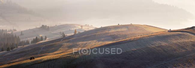 Panorama Naturlandschaft, Bauernhof-Hügel — Stockfoto