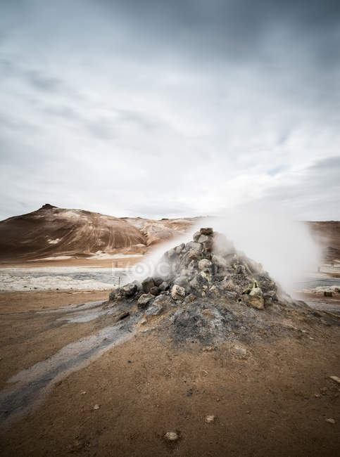 Natural scenic rock formation in Iceland — Stock Photo