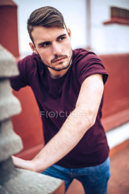 Portrait of handsome man posing — Stock Photo