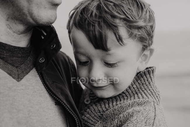 Close-up of father and son bonding — Stock Photo
