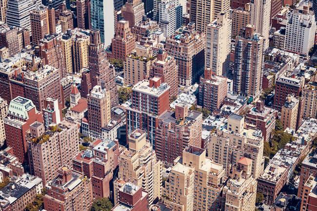 Vintage color foto del edificio de la ciudad de Nueva York, Estados Unidos - foto de stock