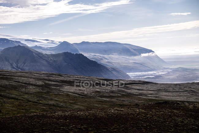 Paisagem vista ambiental das montanhas na Islândia — Fotografia de Stock