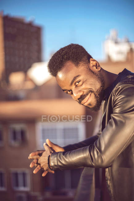 Good looking young black man in trendy clothes — Stock Photo
