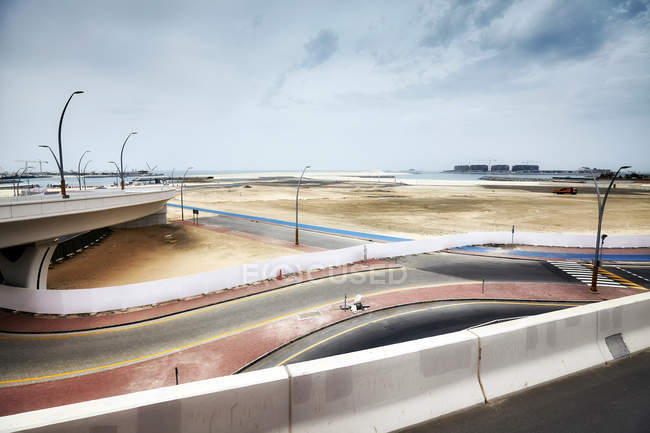 Transport infrastructure and construction site in Dubai, UAE. — Stock Photo