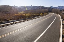 Scenic view of rural road in China — Stock Photo