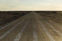 Camino de la pradera en la provincia de Gansu, China - foto de stock
