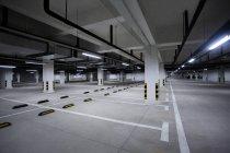 Urban scene of modern parking lot in China — Stock Photo
