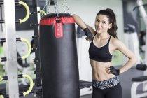Портрет жіноче азіатських боксер — стокове фото