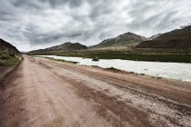 Country road in Tibet, China — Stock Photo