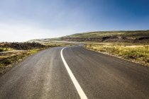 Road in grassland of Hebei province, China — Stock Photo
