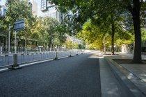 Scena urbana di area verde e architettura moderna di Pechino, Cina — Foto stock