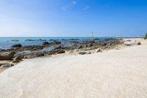 Scenic seashore at resort in Sanya, China — Stock Photo