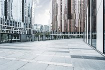 Urban scene of contemporary architecture of Beijing, China — Stock Photo