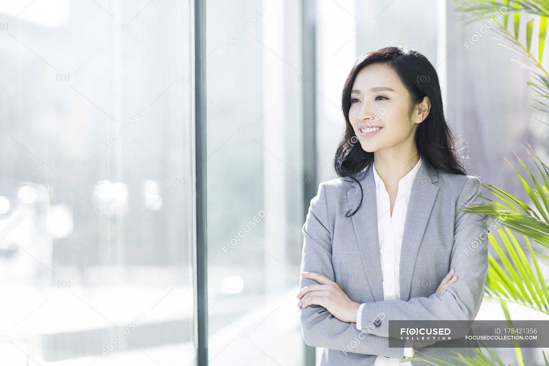 Asian Businesswoman With Arms Crossed