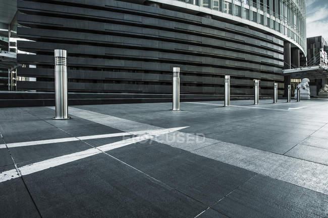 Scena urbana di Pechino edificio ingresso — Foto stock