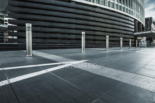 Scena urbana di Pechino ingresso edificio — Foto stock