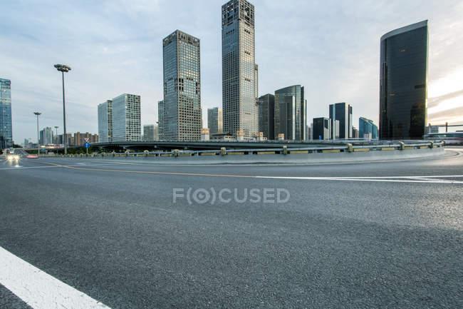 Scena urbana di Pechino architettura contemporanea — Foto stock