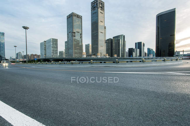 Urban scene of Beijing contemporary architecture — Stock Photo