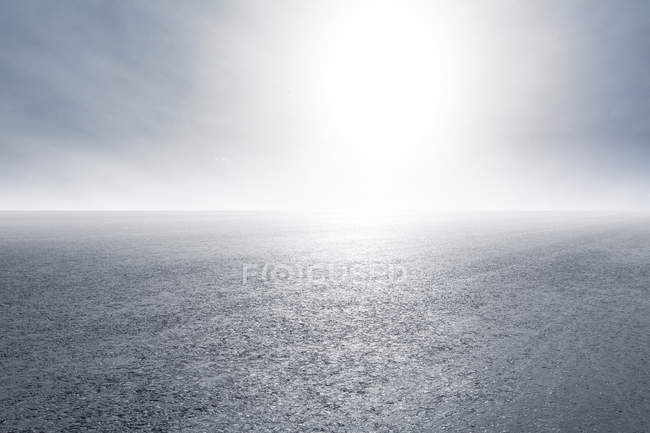 Abstract view of road in China with sun — Stock Photo