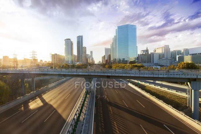 Scena urbana di architettura moderna in Cina — Foto stock