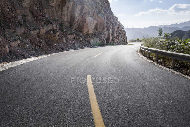 Scenic view of mountain road in China — Stock Photo