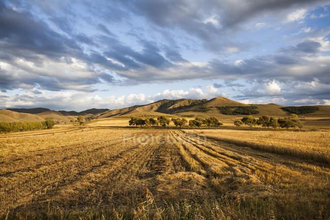 Paesaggio rurale nella provincia della Mongolia Interna, Cina — Foto stock