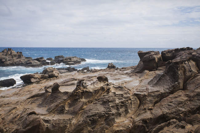 Affittare costa rocciosa a Taiwan, Cina — Foto stock