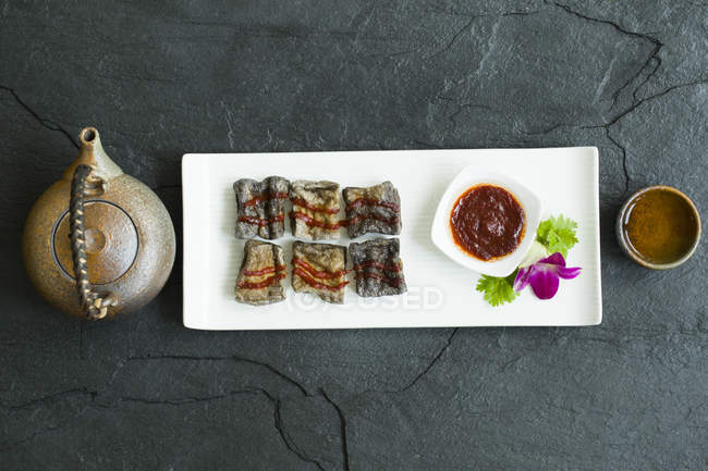 Plat traditionnel chinois tofu puant — Photo de stock